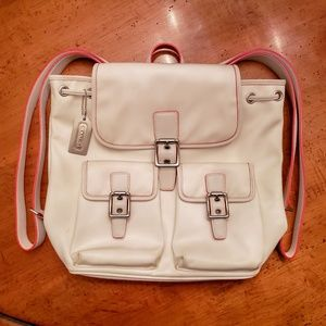 Coach Style #6258 Nylon Double Pocket Backpack